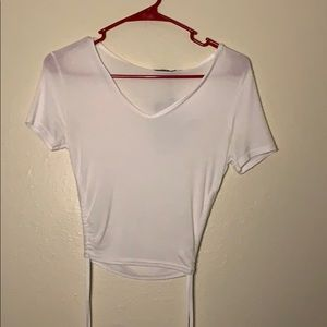 Pretty little thing white jersey top